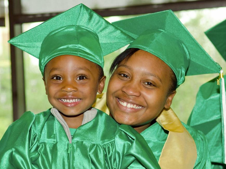 Mother and child graduation   W.K. Kellogg Foundation