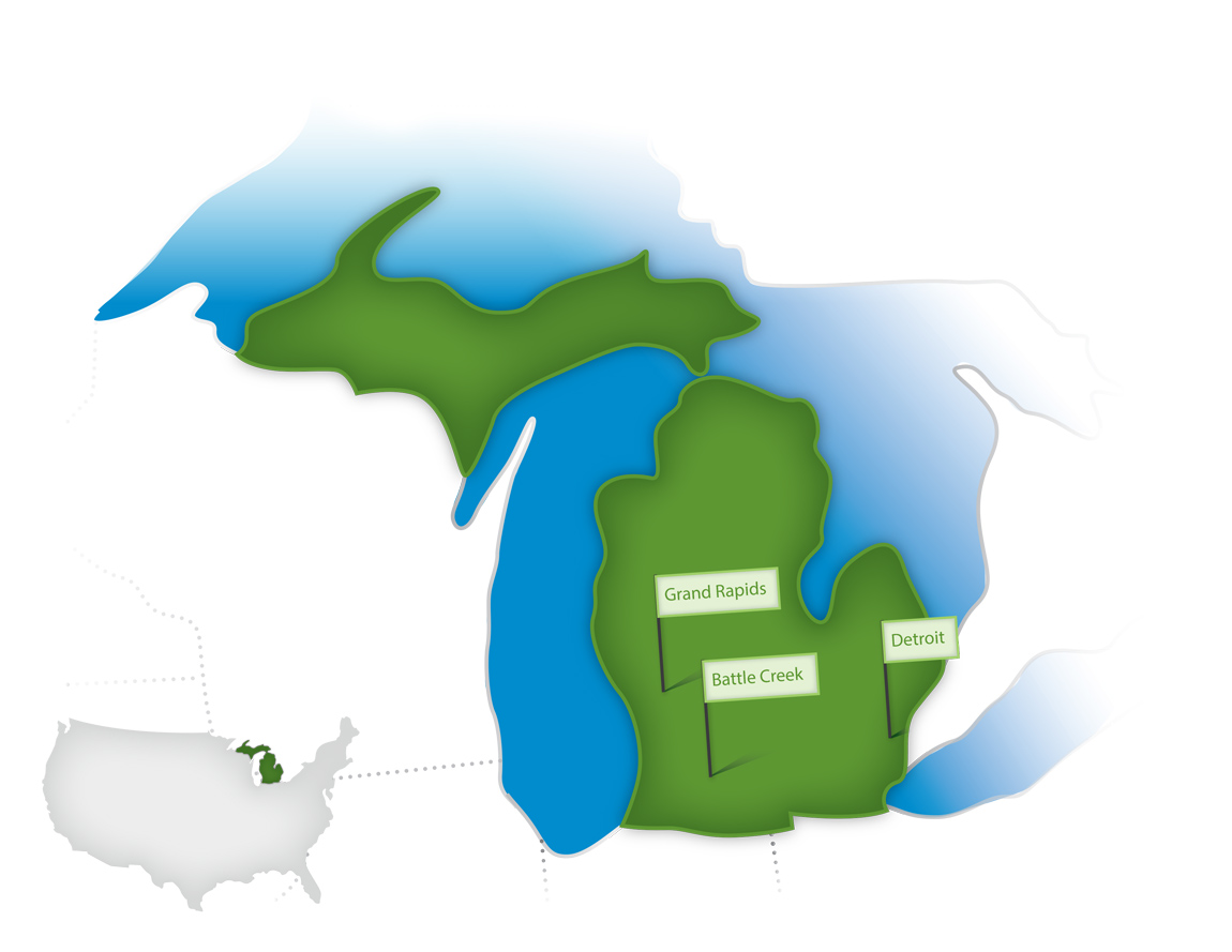 Where We Work in Michigan - W.K. Kellogg Foundation